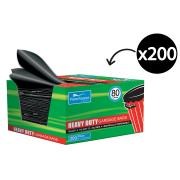 Castaway CA-Rgb008Bx Heavy Duty Easy Pick Garbage Bag 80 L Bx200