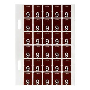 Avery 9 Top Tab Colour Coding Labels for Twin Tab Lateral Files - 20 x 30mm - Brown - 150 Labels