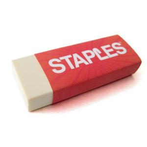 Staples Eraser PVC-Free Standard Office Each