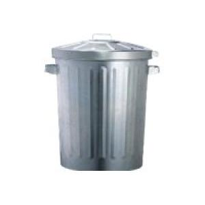 Galvanised Garbage Bin And Lox-On Lid 76Lt Image