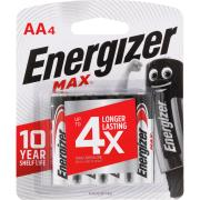 Energizer Max 1.5V Alkaline AA Battery Pack 4
