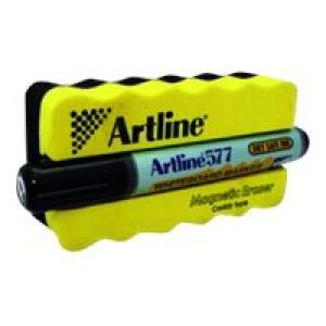 Artline 577 Whiteboard Marker & Magnetic Eraser Image