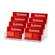 Esselte Business Card Holder 8 Compartments Clear