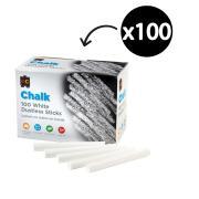 Educational Colours Dustless Chalk White Box 100