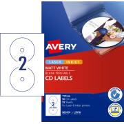 Avery White CD Labels for Laser Printers - 117mm diameter - 50 Labels (L7676)