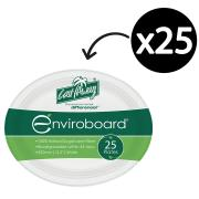 Castaway Enviroboard Oval Plate Large 320X255X23mm White Pack 25