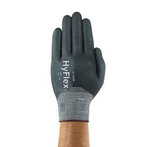 Ansell HyFlex 11-539 Nitrile Full Coating Level B Cut Resistant Glove Size 9 Pair