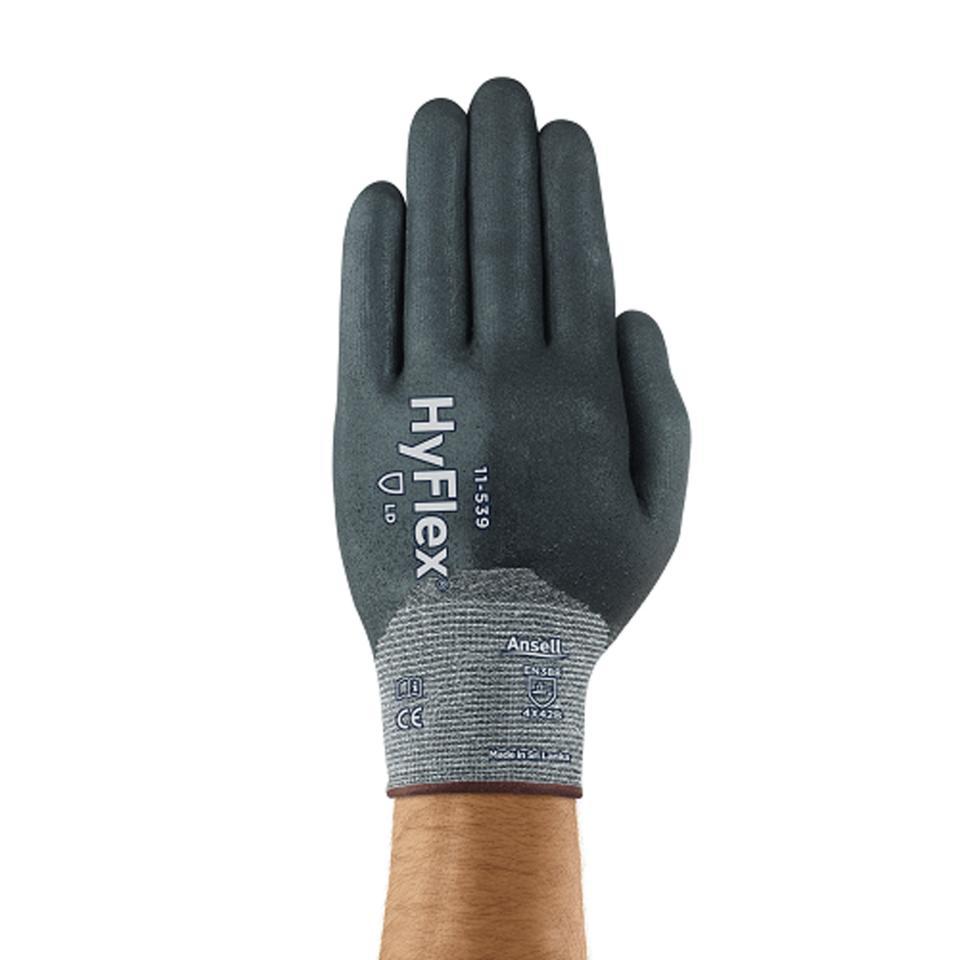 Ansell HyFlex 11-539 Nitrile Full Coating Level B Cut Resistant Glove Pair