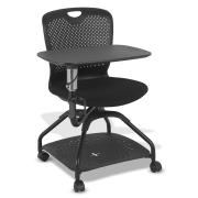 Winc Ambition Rook Student Chair 4Leg on Castors With Tablet/Drink Holder & underseat storage Black