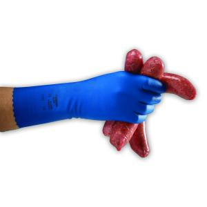 AlphaTec 87-354 Latex Silverlined Glove Blue Size 9 Pkt 12