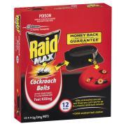 Raid Max Cockroach Baits 12 X 2.5g