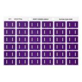 Avery I Side Tab Colour Coding Labels for Lateral Filing - 25 x 38mm - Purple - 180 Labels