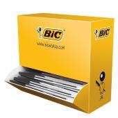 BIC Cristal Ballpoint Pen Medium 1.0mm Black Bulk Feeder Pack 100