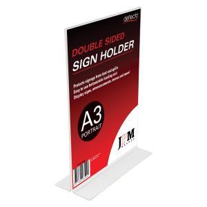 Deflecto Sign/Menu Holder 2 Sided A3 Portrait