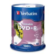 Verbatim Printable DVD+R 4.7 GB / 16x / 120 Min - 100-Pack Spindle
