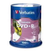 Verbatim Printable DVD+R 4.7 GB / 16x / 120 Min - 100-Pack Spindle