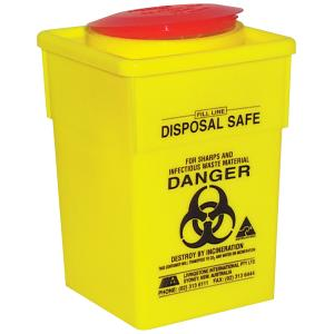 Livingstone Sharps Disposal Safe Yellow Standard Square 1