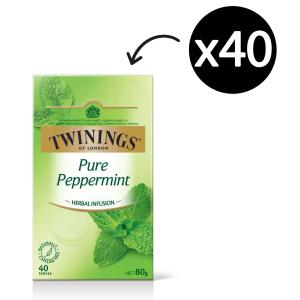 Twinings Herbal Infusions Pure Peppermint Tea Bags Pack 40