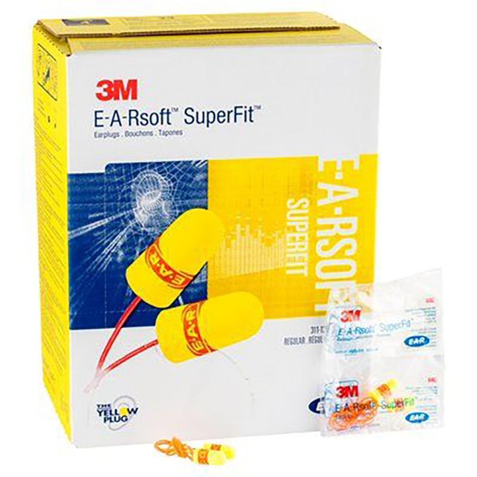 3M E-A-R Earplugs Soft Fit Corded 24Db Class 4 200 Pairs