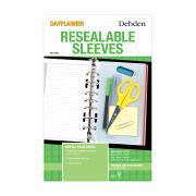 Collins Debden Dk1005 Dayplanner Resealable Sleeve Bag Pack of 2