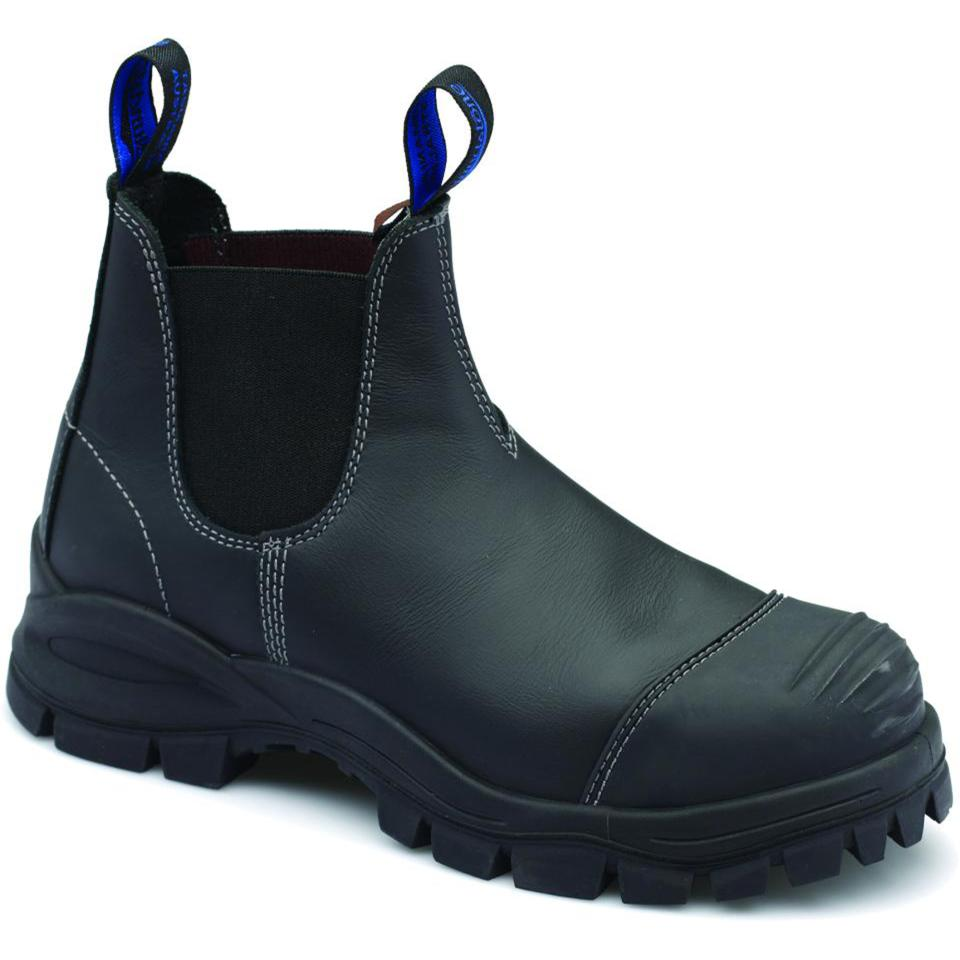 Blundstone 990 Elastic Side Safety Boot Rubber Sole Black