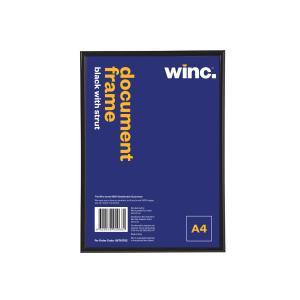 Winc Document Frame A4 210 x 297mm Black with Strut