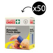Metal Detectable Bandaids Blue Pack 50