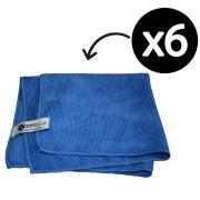 Cloth M/Fibre Anti Microbial Blue Pack 6