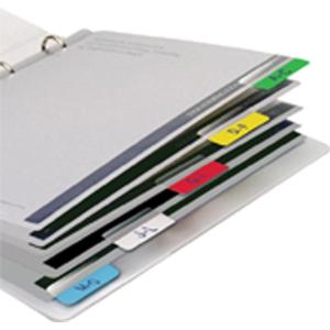 3L 10512 Index Tabs 40mm Assorted Colours Pack 48