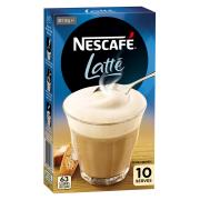 Nescafe Cafe Menu Latte Coffee Sticks 15g Box of 10