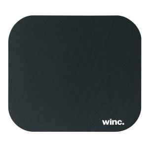 Winc Mouse Pad with Rubber Backing 180 x 220mm Black