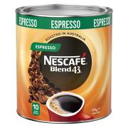 Nescafe Blend 43 Espresso Instant Coffee 375g Tin