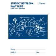 Writer Student Note Book Navy Blue 32 Pages Double Ruled 4mm