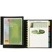 Marbig Kwik Zip Display Book A4 Insertable Tab 10 Pockets