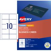 Avery Matte Finish Business cards - 90 x 52mm - 200 cards - 150g/m2 (L7414)