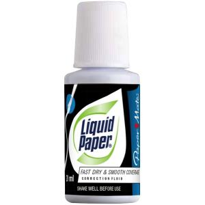 Liquid Paper Bottle And Brush Correction Fluid