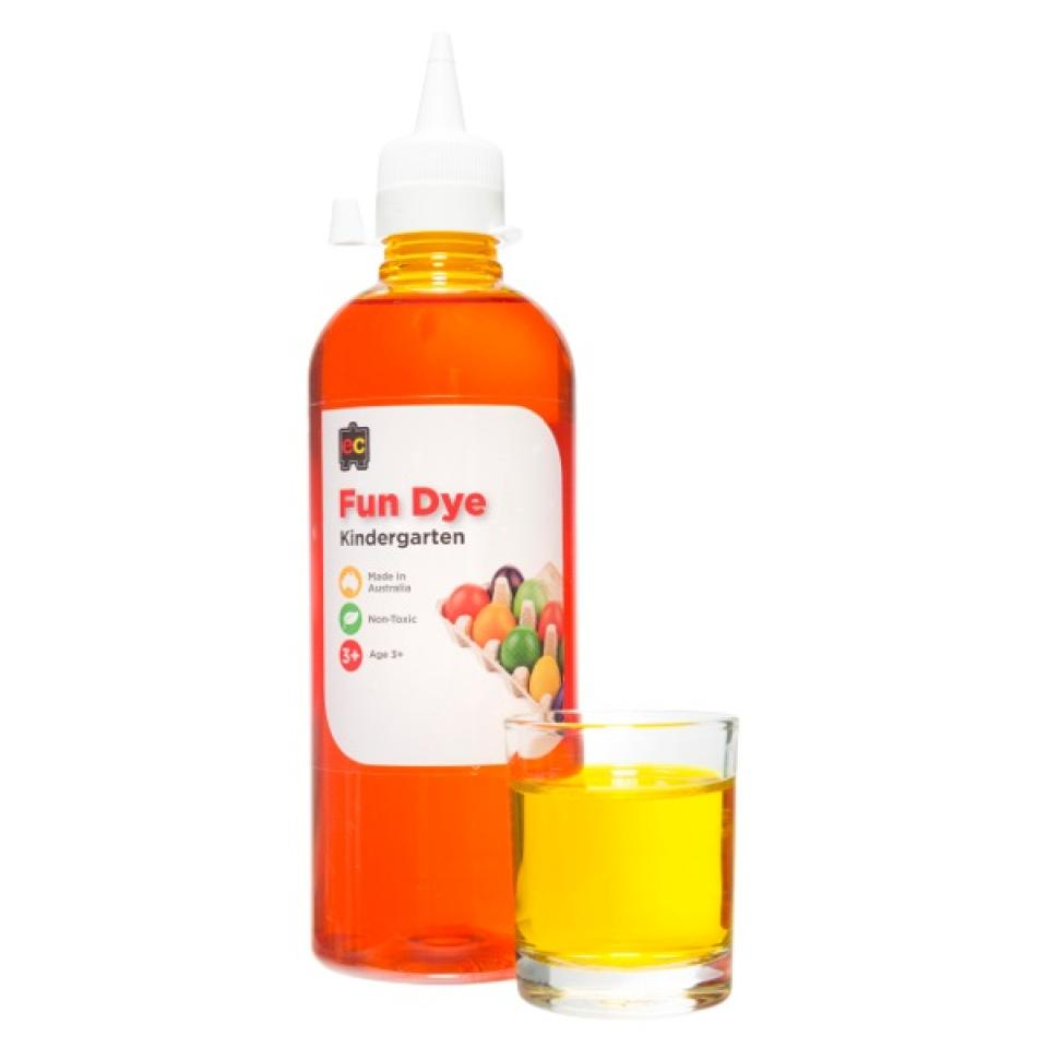 Educational Colours Kindergarten Fun Dyes 500ml Yellow