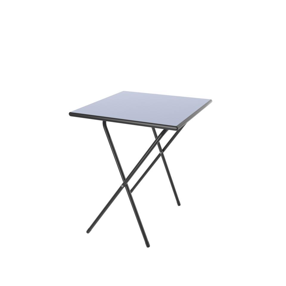 Sebel Folding Exam Table 720(h)x600(w)x600(d) Bull Blue Top/Standard Grey PE/Charcoal Frame