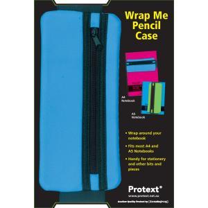 Protext A4 Wrap Me Pencil Case Blue