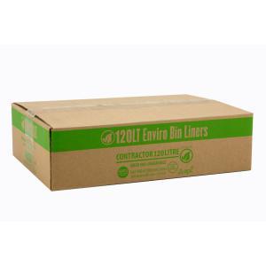 Austar Bin Liners Degradable Tidy 120 Litre Green Roll Carton 200