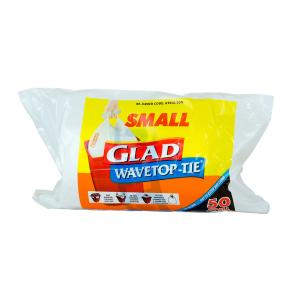 Glad Wavetop Kitchen Tidy 18 Litre Small White Roll 50
