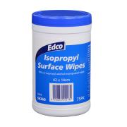 Edco Isopropyl Surface Wipes Canister Pack 75