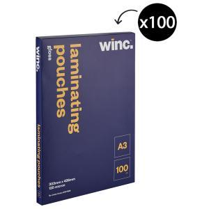 Winc A3 125 Micron Gloss Laminating Pouches 100 Pack