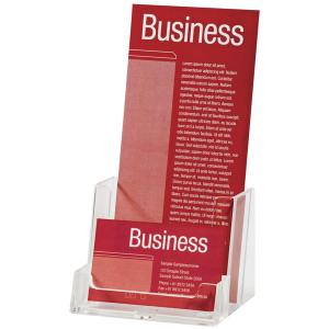 Esselte Brochure Holder With Business Card Holder Dl Clear Winc