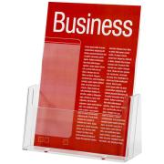 Esselte Brochure Holder Free Standing 1 Tier 1 Compartment Portrait A5 Clear