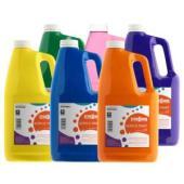 Teter Mek Acrylic Paint 2L Assorted Colours Pack 6