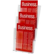 Esselte Brochure Holder Wall Mount 3 Compartments A4 Clear