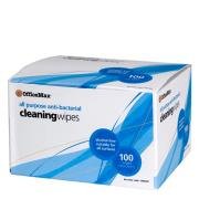 Officemax All Purpose Anti-bacterial Cleaning Wipes Box 100