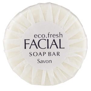 Concept Amenities Ecofresh 20gm Pleat Wrap Facial Soap Carton 400