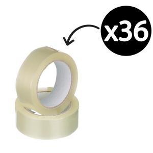Winc Packaging Tape Acrylic 48mmx75m Clear Inner Pack 6 / Carton 36 Rolls